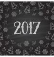 Christmas or New Year blackboard design vector image