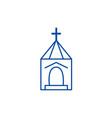 church wedding line icon concept church wedding vector image vector image