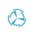 circle simple geometric turbine arrow logo vector image vector image