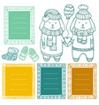 collection doodle winter borders vector image