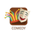 comedy cinema or theatre genre cinematography vector image vector image