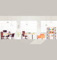 creative workplace modern open space empty nobody vector image vector image