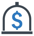 Dollar Deposit Flat Icon vector image