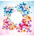 elegant butterfly frame vector image vector image