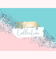 elegant luxury blue mint pink blush and silver vector image vector image