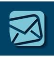 envelope icon design vector image vector image