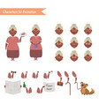 funny grandmother housewife cartoon vector image vector image