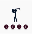 golf player icon simple game element human vector image