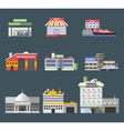 Government Flat Buildings Set vector image vector image