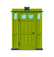 green door in vintage style architactural design vector image vector image