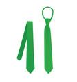 green fashionable tie vector image vector image