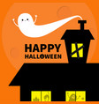 haunted house roof attic loft light on boarded-up vector image