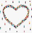 heart shape frame diverse people group vector image