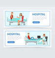 hospital and healthcare banners set doctors vector image vector image