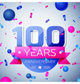 Hundred years anniversary celebration on grey vector image