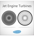 Jet Engine Turbine Front View vector image
