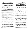line brushes hand drawn strokes vector image vector image