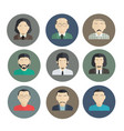 male faces icons of characters in a flat style vector image