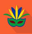 mask cartoon flat icon brazil ceremony vector image vector image