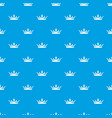medieval crown pattern seamless blue vector image vector image