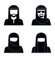 Middle Eastern people avatar vector image