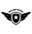 military army patrol logo simple style vector image