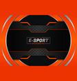 modern futuristic e-sports style overlapped vector image vector image