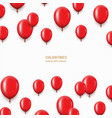 modern red balloons background for happy vector image