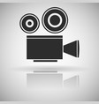 movie filming old retro camera black flat icon vector image vector image