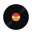 music retro vinyl record flat icon vector image vector image