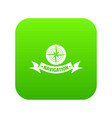 navigation icon green vector image vector image