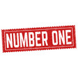 number one grunge rubber stamp vector image vector image