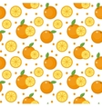 Orange seamless pattern Mandarin citrus endless vector image