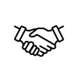 partnership vector image vector image
