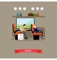 Passengers in public transport concept vector image vector image