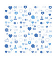 pattern with social icons comments and likes vector image vector image