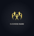 people group holding hand gold logo vector image vector image