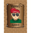 Posters of a wanted bandit vector image vector image