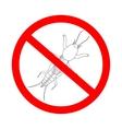 prohibition sign Gryllotalpidae European mole vector image vector image