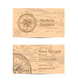 sailing tour business card layout vector image vector image