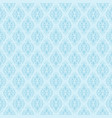 seamless blue damask pattern vector image vector image