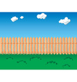 Seamless fence pattern vector image