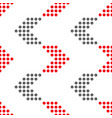 seamless geometric pattern with dotted vector image vector image