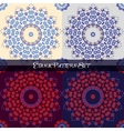 Seamless ornament set Ethnic pattern vector image