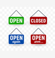 set door signboard with opening or closing vector image