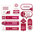 Set of red-violet progress version step icons vector image vector image