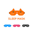 Sleep mask set Night sleeping mask icon Sleep mask vector image vector image