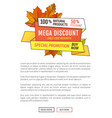 special poster promotion discount thanksgiving day vector image vector image