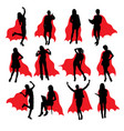 super secretary silhouettes vector image vector image