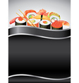sushi vertical background vector image
